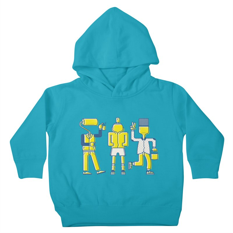 Arround the streets Kids Toddler Pullover Hoody by carvalhostuff's Artist Shop