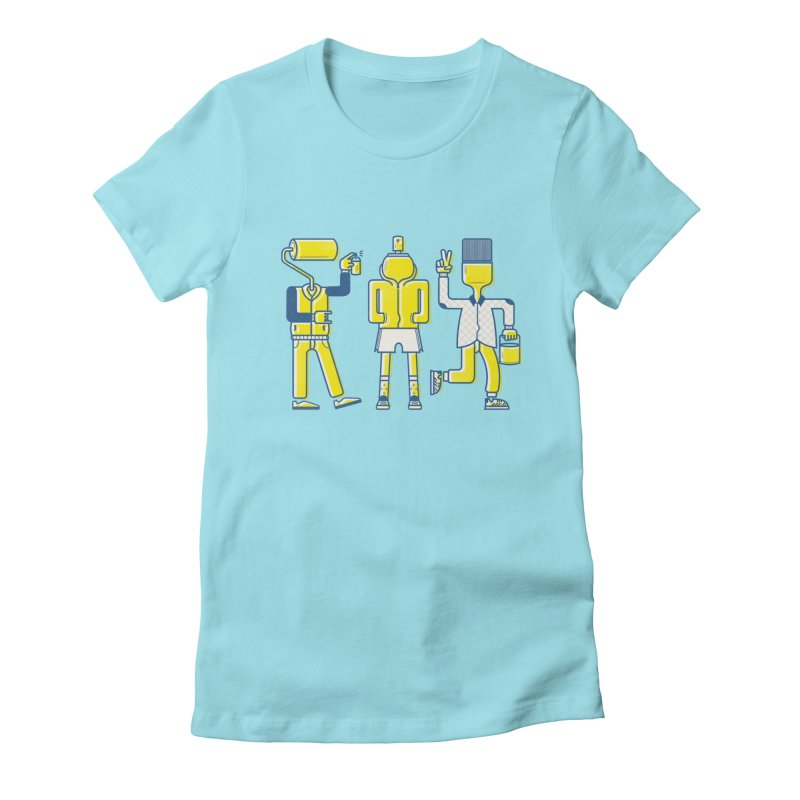 Arround the streets Women's Fitted T-Shirt by carvalhostuff's Artist Shop