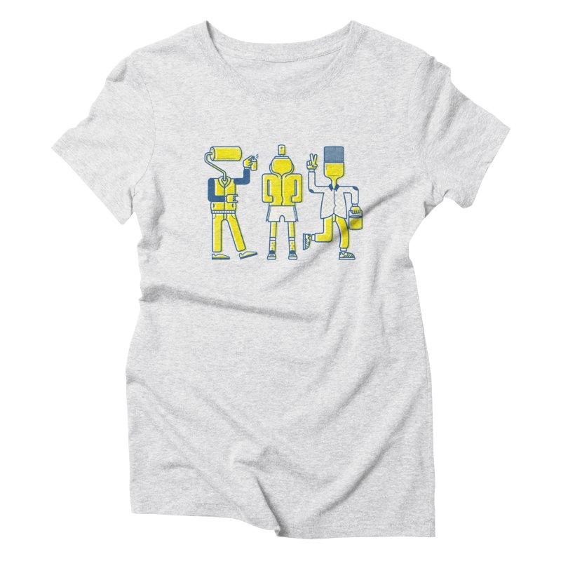 Arround the streets Women's Triblend T-Shirt by carvalhostuff's Artist Shop