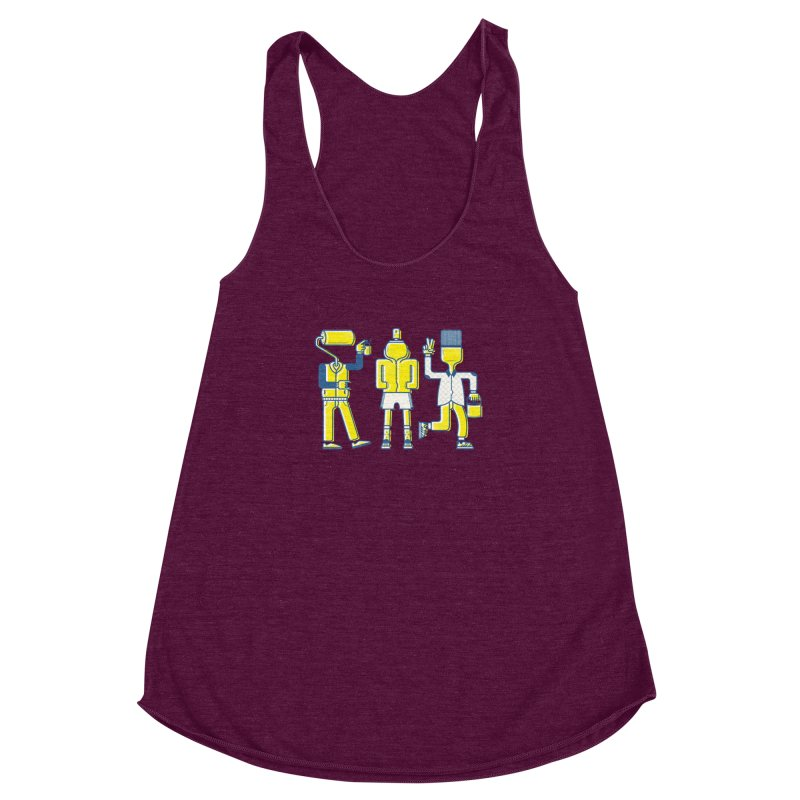 Arround the streets Women's Racerback Triblend Tank by carvalhostuff's Artist Shop