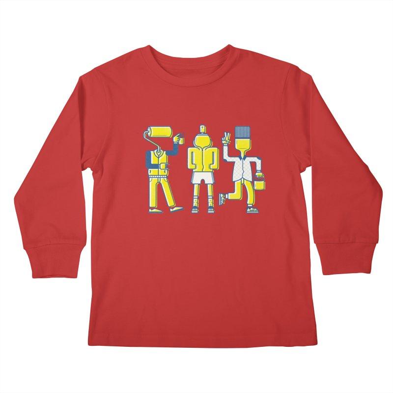 Arround the streets Kids Longsleeve T-Shirt by carvalhostuff's Artist Shop