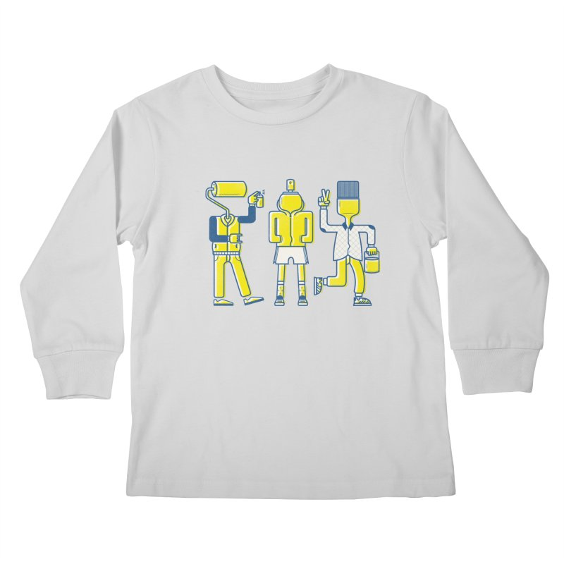 Arround the streets Kids Longsleeve T-Shirt by carvalhostuff's Artist Shop