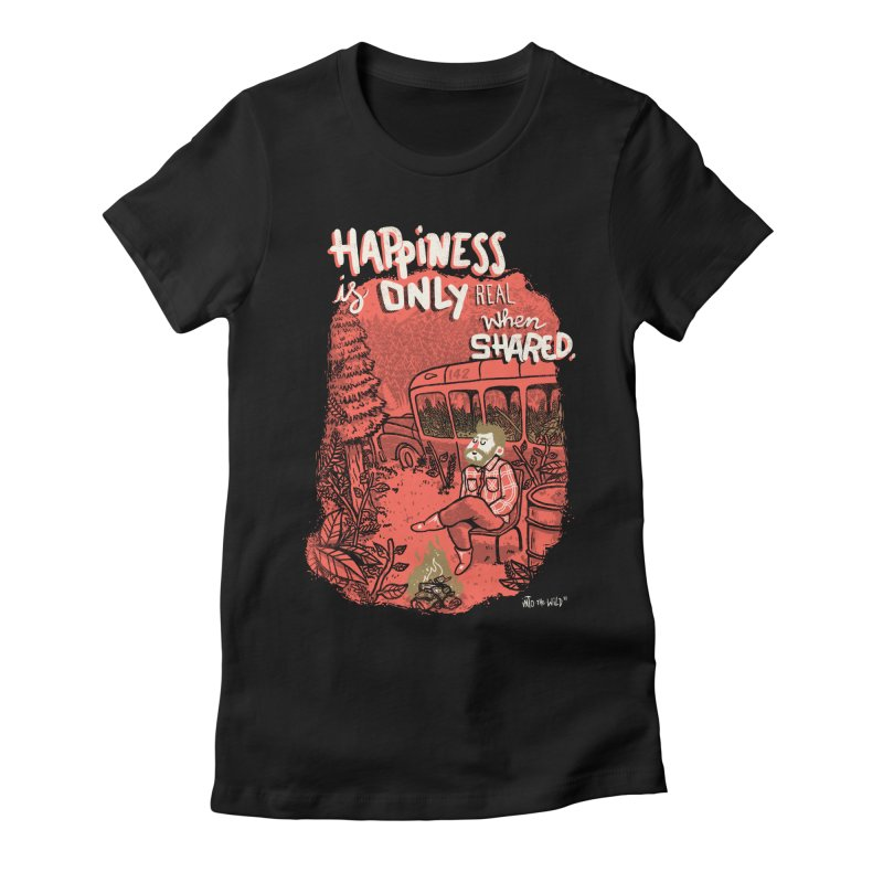 Hapiness Shared Women's Fitted T-Shirt by Vinicius Carvas' Artist Shop