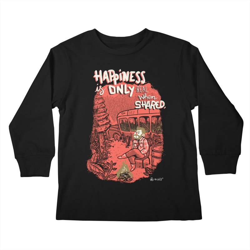 Hapiness Shared Kids Longsleeve T-Shirt by Vinicius Carvas' Artist Shop