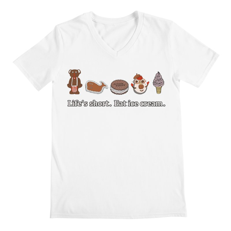 Life's Short Men's Regular V-Neck by Carvel Ice Cream's Shop
