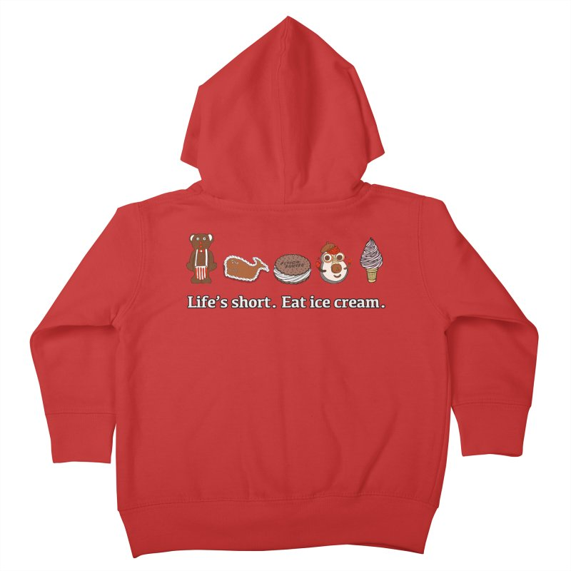 Life's Short Kids Toddler Zip-Up Hoody by Carvel Ice Cream's Shop