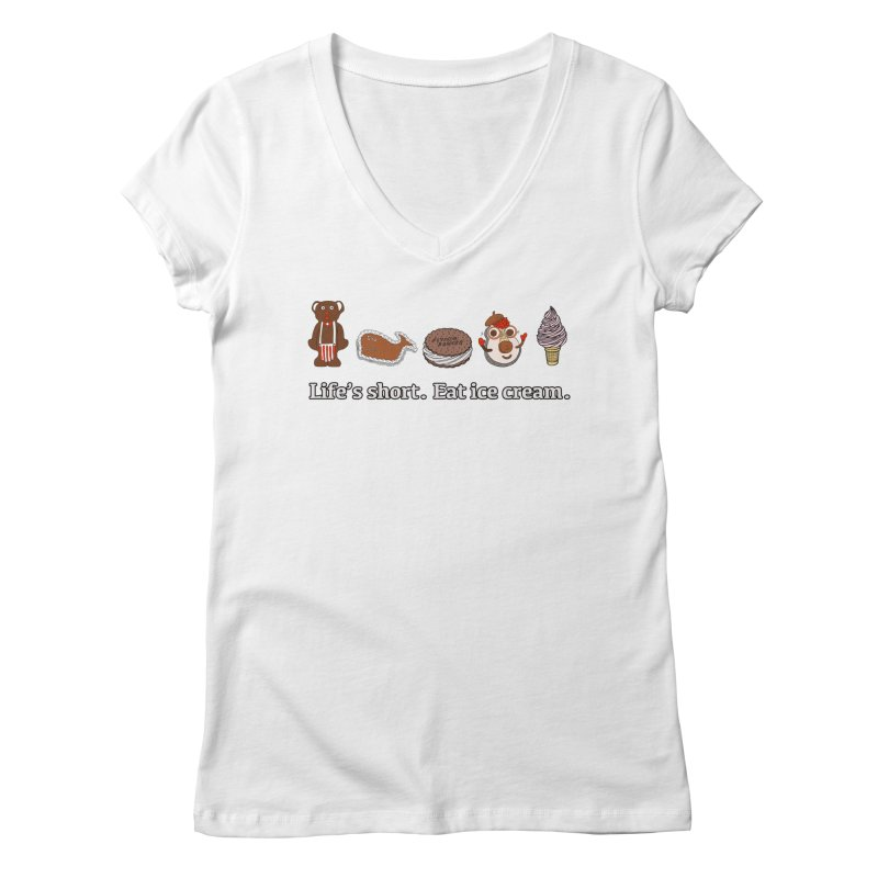 Life's Short Women's Regular V-Neck by Carvel Ice Cream's Shop