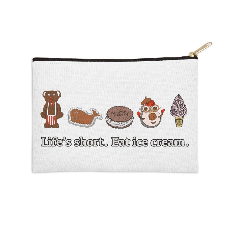 Life's Short Accessories Zip Pouch by Carvel Ice Cream's Shop