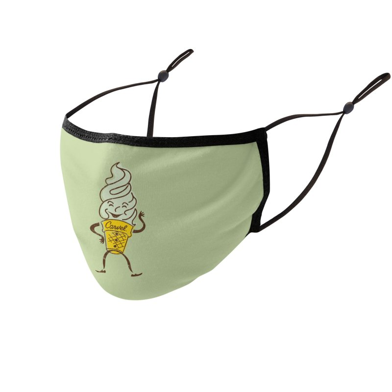 Ice Cream Man Accessories Face Mask by Carvel Ice Cream's Shop