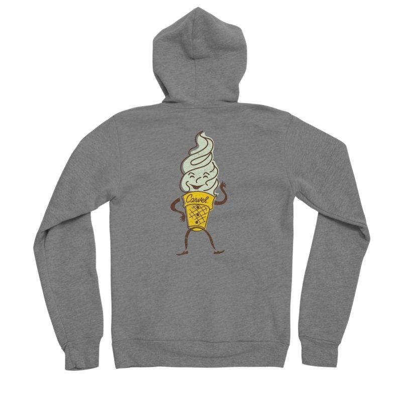 Ice Cream Man Men's Sponge Fleece Zip-Up Hoody by Carvel Ice Cream's Shop