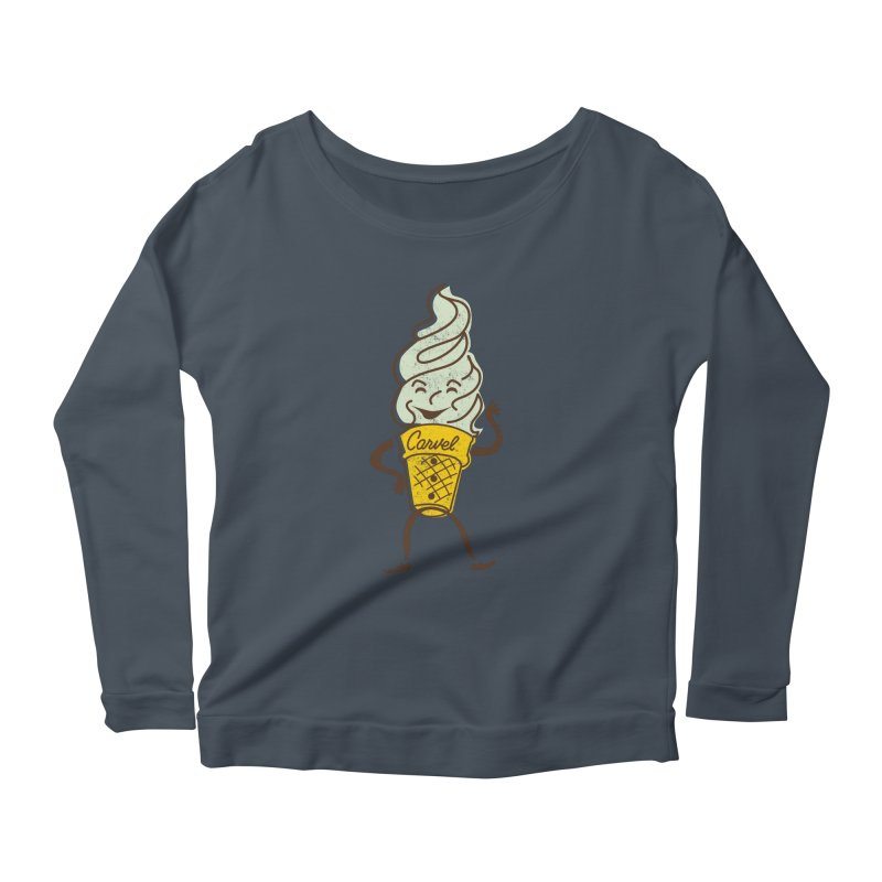 Ice Cream Man Women's Scoop Neck Longsleeve T-Shirt by Carvel Ice Cream's Shop