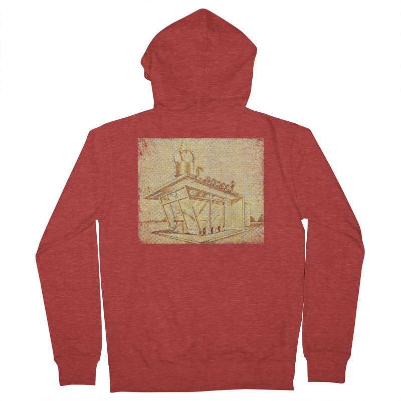 Carvel Shoppe Print Men's French Terry Zip-Up Hoody by Carvel Ice Cream's Shop