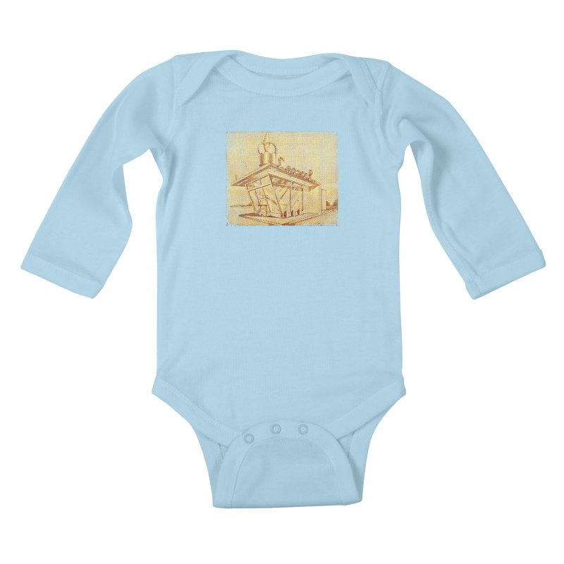 Carvel Shoppe Print Kids Baby Longsleeve Bodysuit by Carvel Ice Cream's Shop