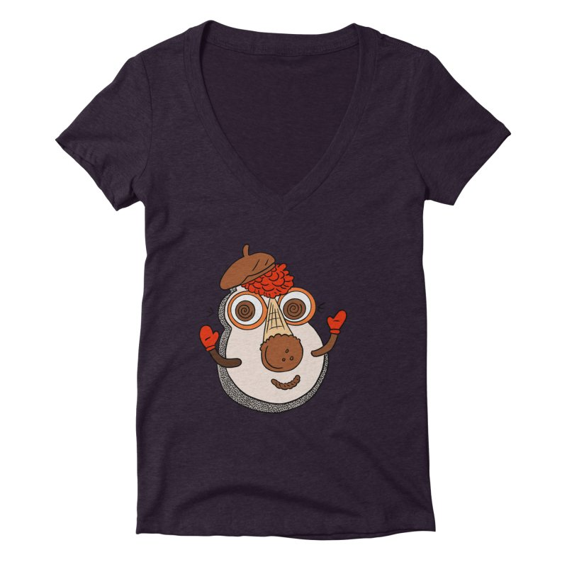 Cookie Puss Women's Deep V-Neck V-Neck by Carvel Ice Cream's Shop