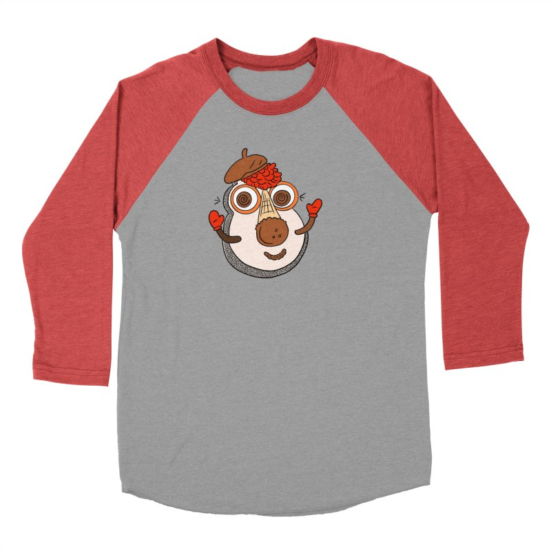 Cookie Puss in Men's Baseball Triblend Longsleeve T-Shirt Chili Red Sleeves by Carvel Ice Cream's Shop