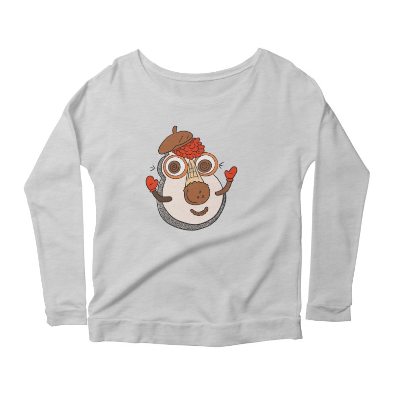Cookie Puss Women's Scoop Neck Longsleeve T-Shirt by Carvel Ice Cream's Shop