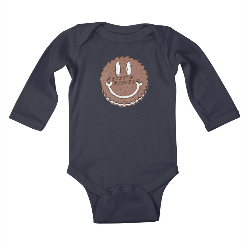 Carvel Saucer Smiley Kids Baby Longsleeve Bodysuit by Carvel Ice Cream's Shop