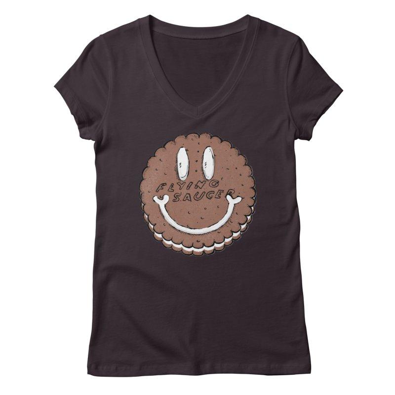 Carvel Saucer Smiley Women's V-Neck by Carvel Ice Cream's Shop