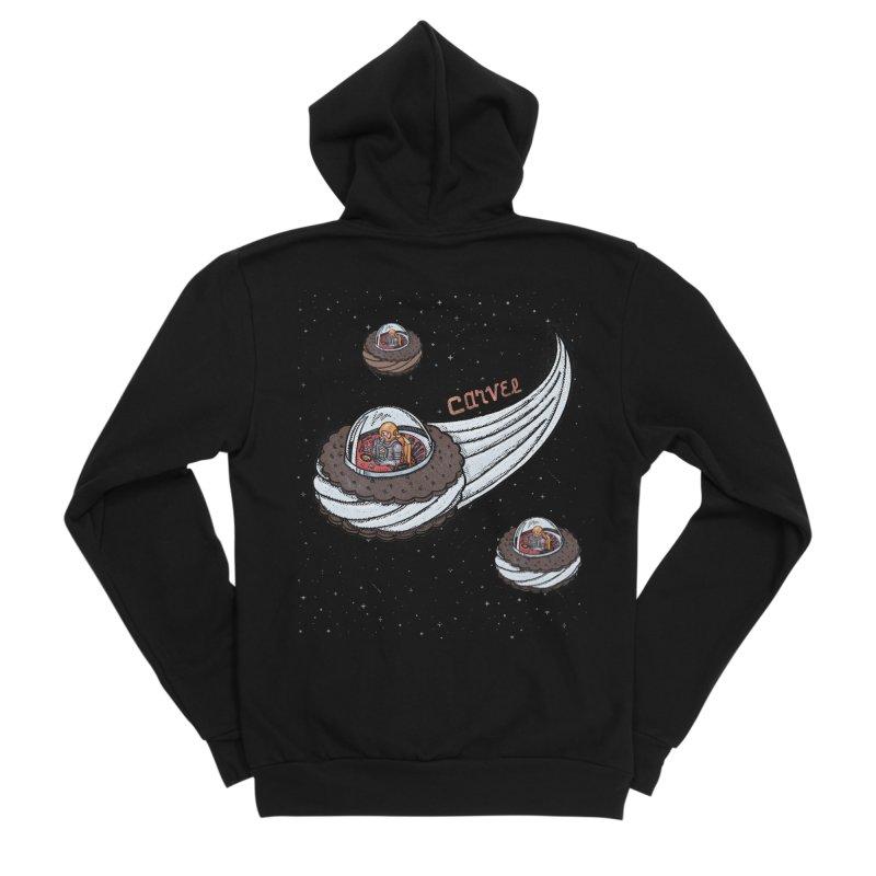 Flying Saucer Spacemen Women's Sponge Fleece Zip-Up Hoody by Carvel Ice Cream's Shop
