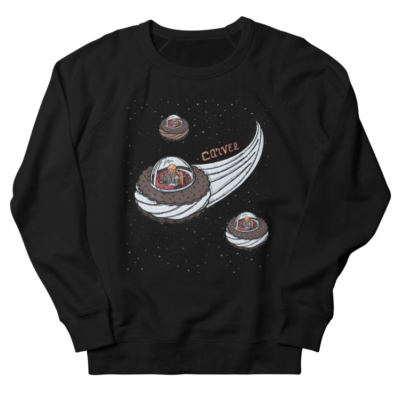 Flying Saucer Spacemen Women's French Terry Sweatshirt by Carvel Ice Cream's Shop
