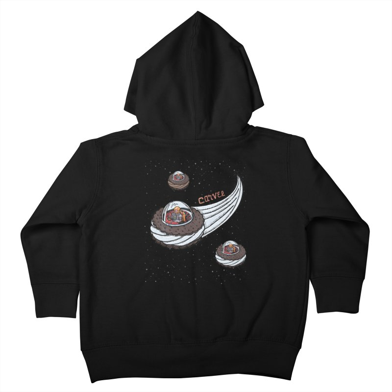Flying Saucer Spacemen Kids Toddler Zip-Up Hoody by Carvel Ice Cream's Shop