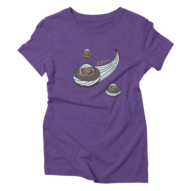 Flying Saucer Spacemen Women's T-Shirt by Carvel Ice Cream's Shop