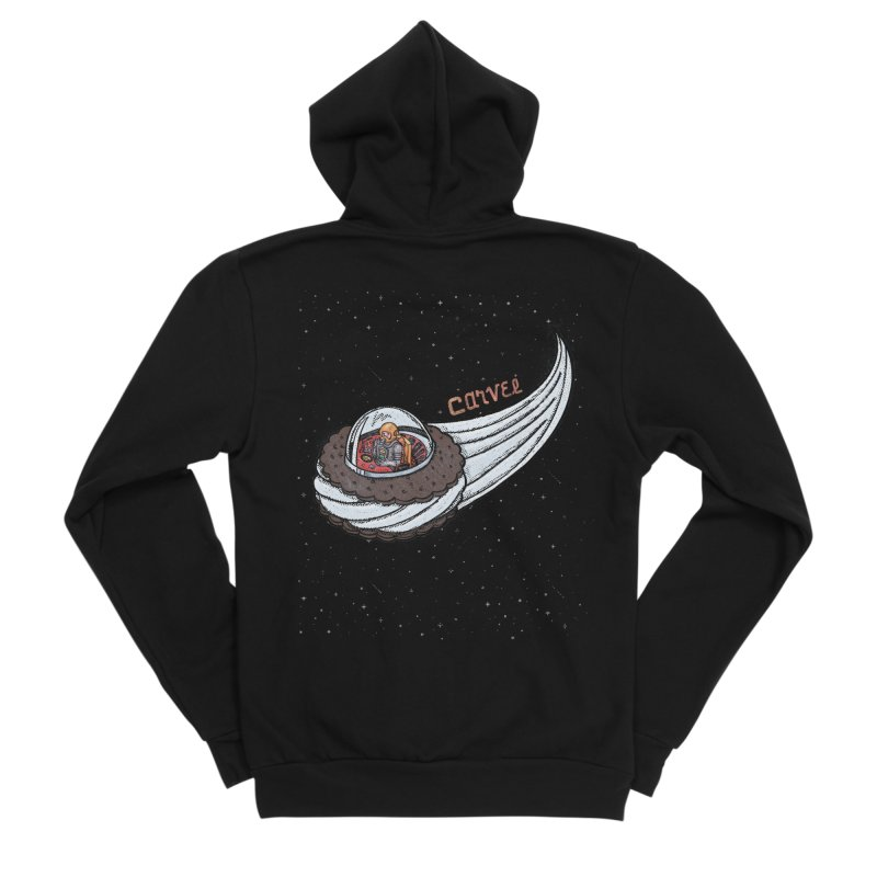 Flying Saucer Spaceman Solo Men's Zip-Up Hoody by Carvel Ice Cream's Shop
