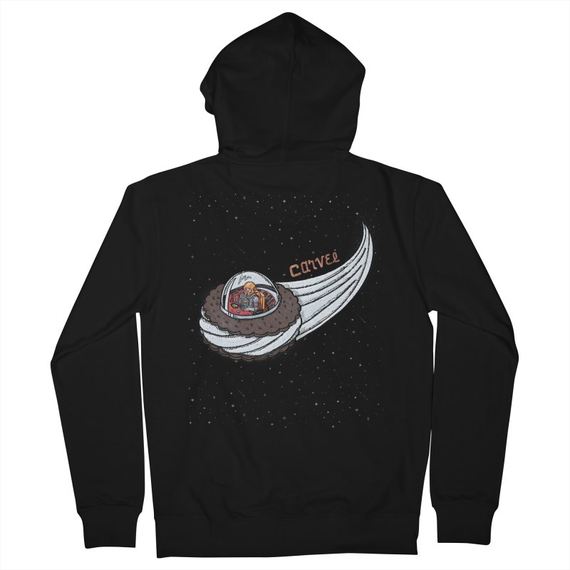 Flying Saucer Spaceman Solo Women's French Terry Zip-Up Hoody by Carvel Ice Cream's Shop