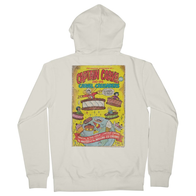 Captain Carvel and his Carvel Crusaders Men's French Terry Zip-Up Hoody by Carvel Ice Cream's Shop