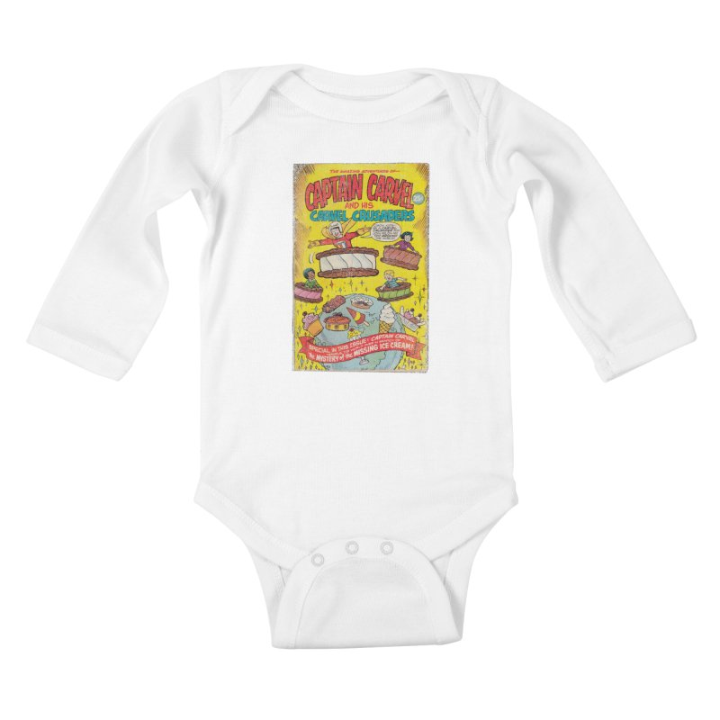 Captain Carvel and his Carvel Crusaders Kids Baby Longsleeve Bodysuit by Carvel Ice Cream's Shop
