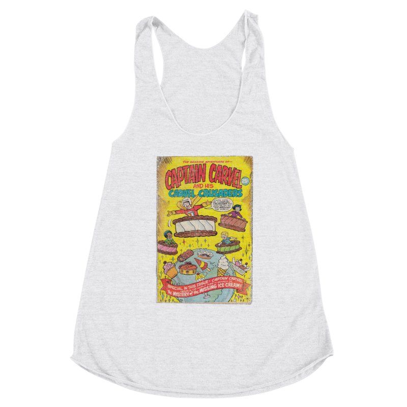 Captain Carvel and his Carvel Crusaders Women's Racerback Triblend Tank by Carvel Ice Cream's Shop