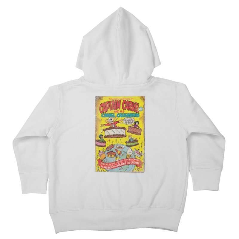 Captain Carvel and his Carvel Crusaders Kids Toddler Zip-Up Hoody by Carvel Ice Cream's Shop