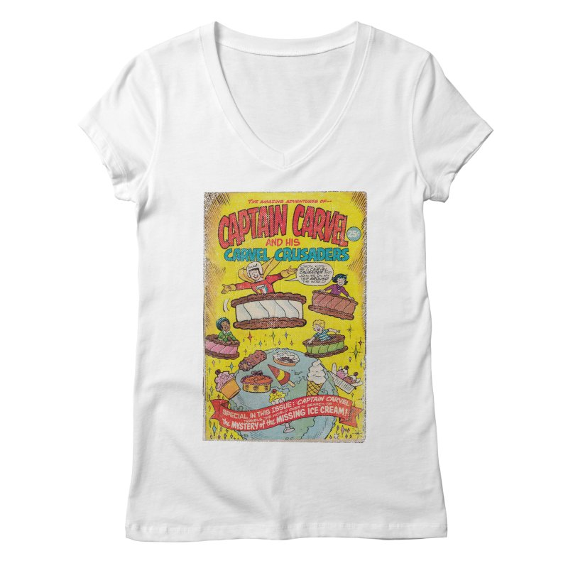 Captain Carvel and his Carvel Crusaders Women's V-Neck by Carvel Ice Cream's Shop