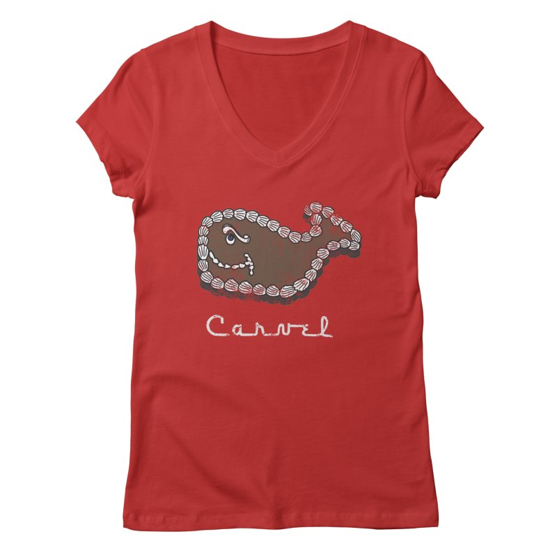 Vintage Fudgie with Logo Women's V-Neck by Carvel Ice Cream's Shop