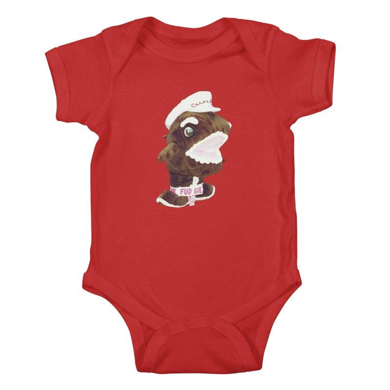 Fudgie Throwback Mascot Kids Baby Bodysuit by Carvel Ice Cream's Shop