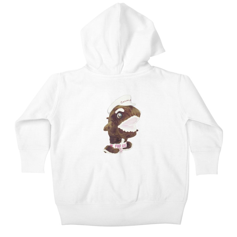 Fudgie Throwback Mascot Kids Baby Zip-Up Hoody by Carvel Ice Cream's Shop