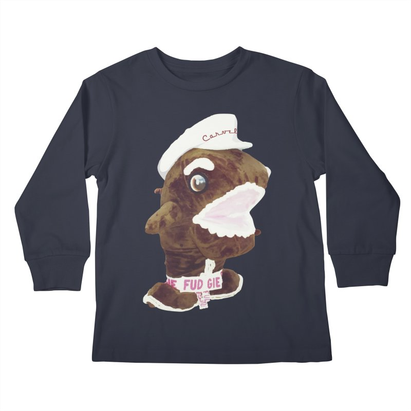 Fudgie Throwback Mascot Kids Longsleeve T-Shirt by Carvel Ice Cream's Shop