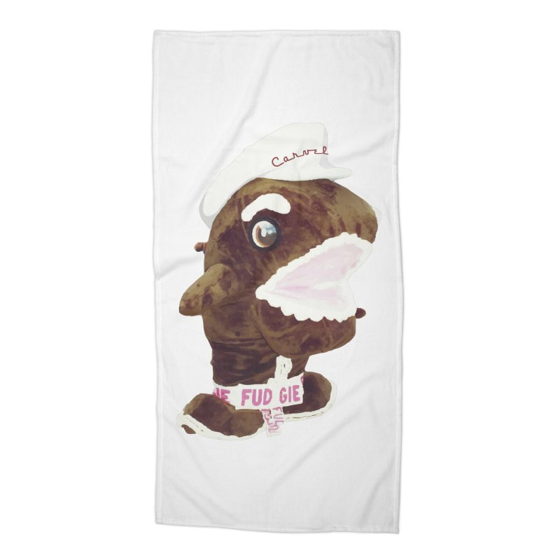 Fudgie Throwback Mascot Accessories Beach Towel by Carvel Ice Cream's Shop