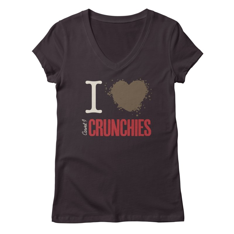 I love Crunchies Women's V-Neck by Carvel Ice Cream's Shop