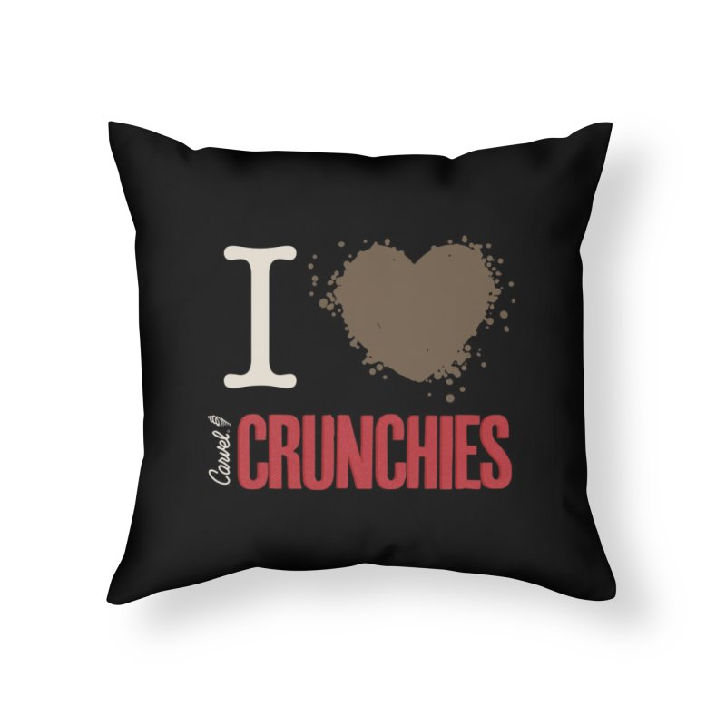 I love Crunchies Home Throw Pillow by Carvel Ice Cream's Shop