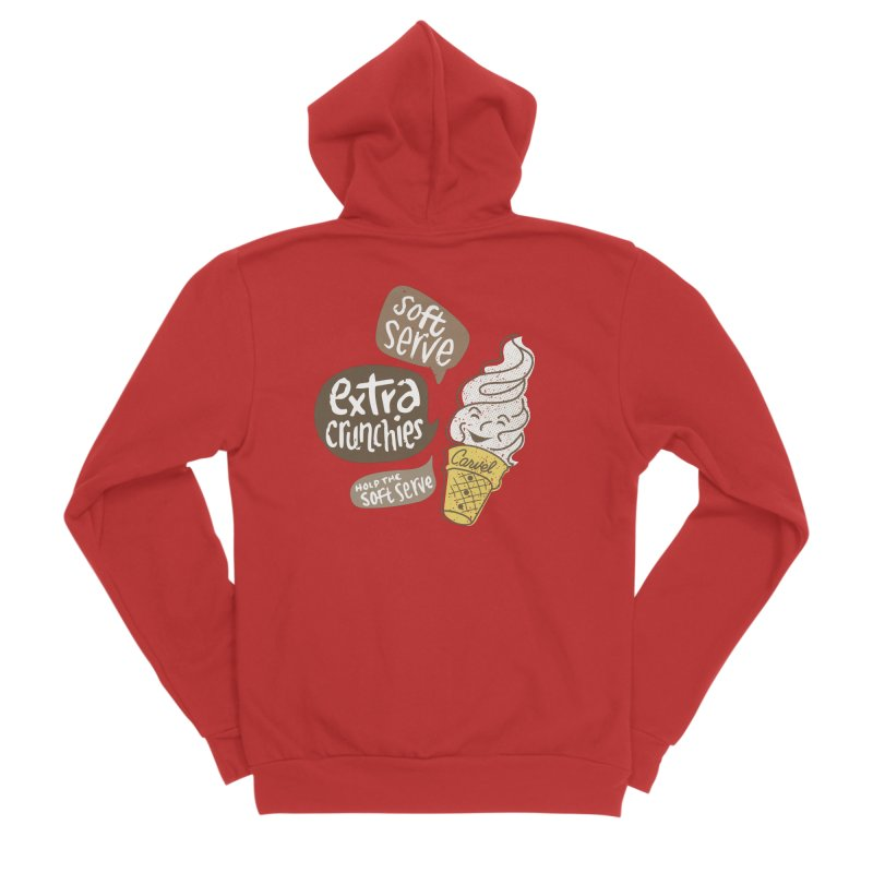 Soft Serve Extra Crunchies Women's Zip-Up Hoody by Carvel Ice Cream's Shop