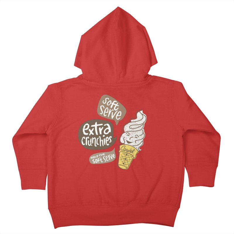 Soft Serve Extra Crunchies Kids Toddler Zip-Up Hoody by Carvel Ice Cream's Shop