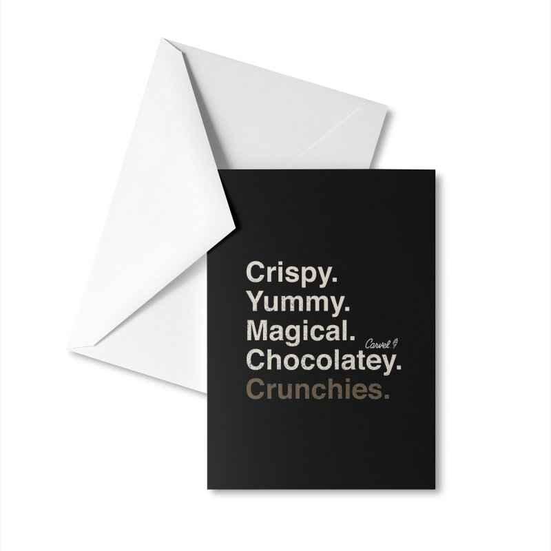 Crispy Yummy Magical Crunchies Accessories Greeting Card by Carvel Ice Cream's Shop
