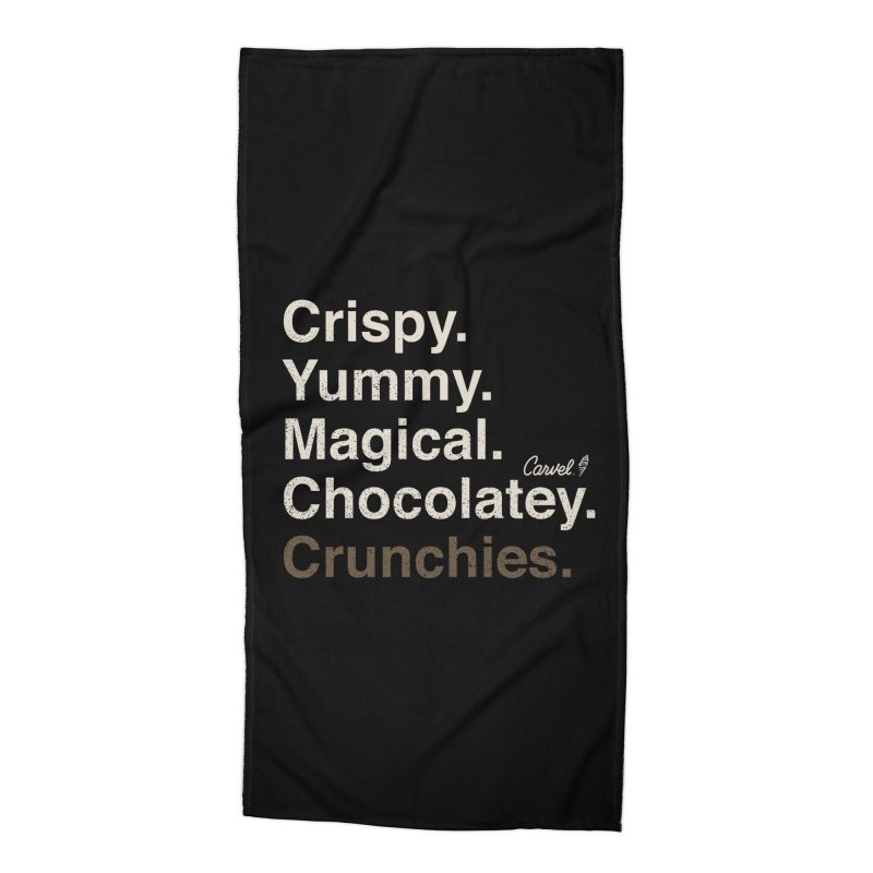 Crispy Yummy Magical Crunchies Accessories Beach Towel by Carvel Ice Cream's Shop
