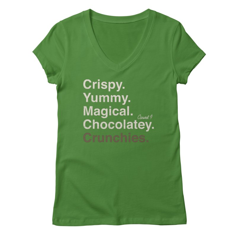 Crispy Yummy Magical Crunchies Women's V-Neck by Carvel Ice Cream's Shop