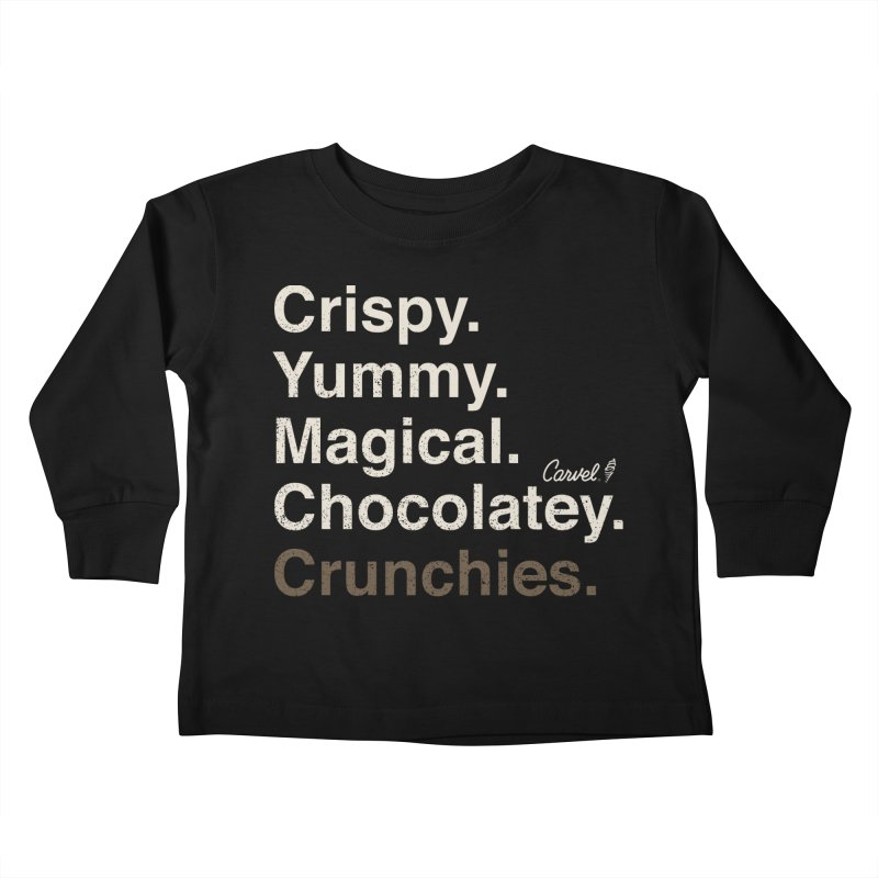 Crispy Yummy Magical Crunchies Kids Toddler Longsleeve T-Shirt by Carvel Ice Cream's Shop