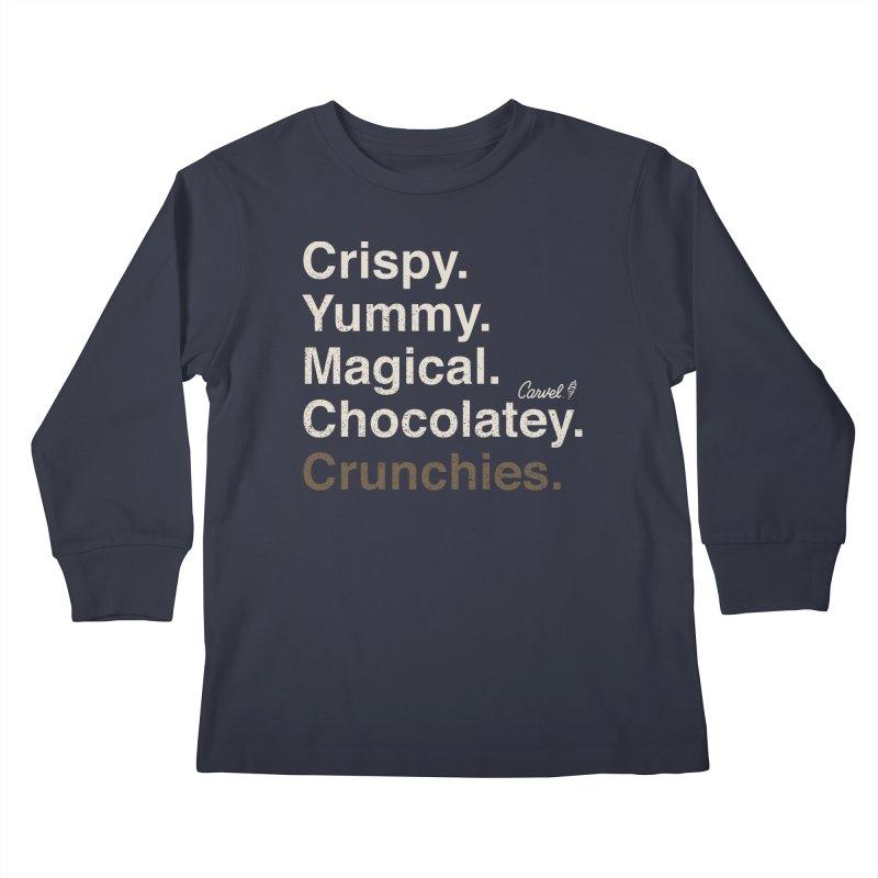 Crispy Yummy Magical Crunchies Kids Longsleeve T-Shirt by Carvel Ice Cream's Shop