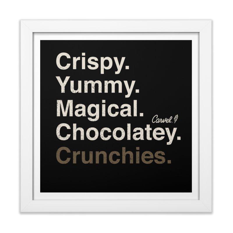 Crispy Yummy Magical Crunchies Home Framed Fine Art Print by Carvel Ice Cream's Shop