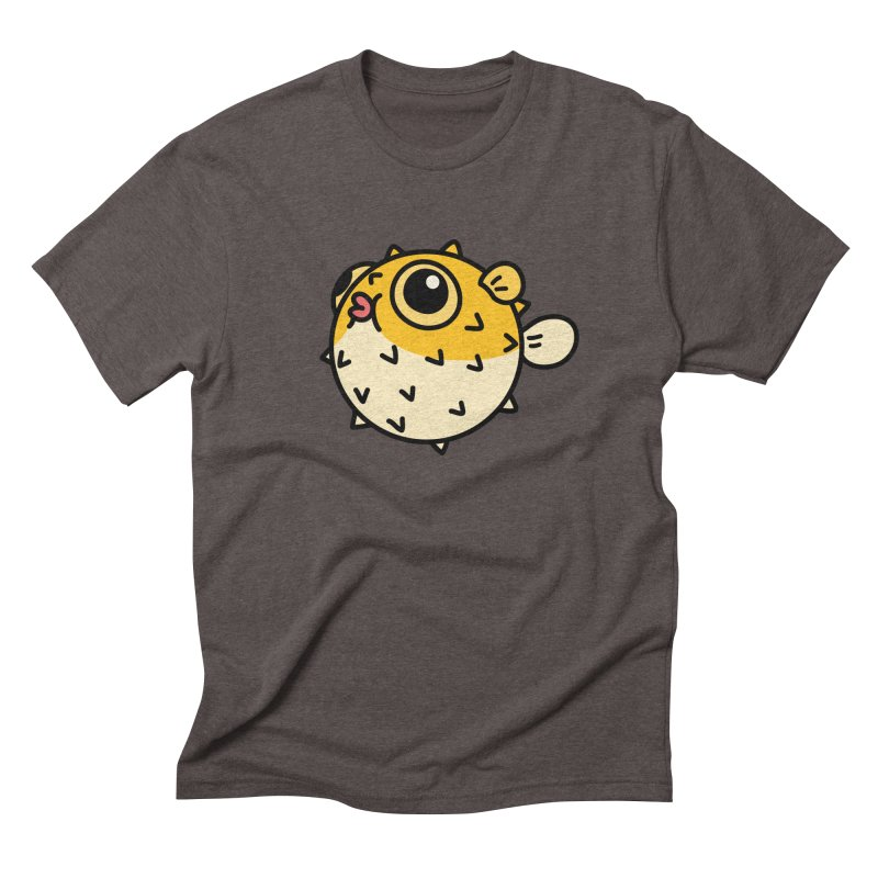 Pufferfish Men's Triblend T-Shirt by Casandra Ng