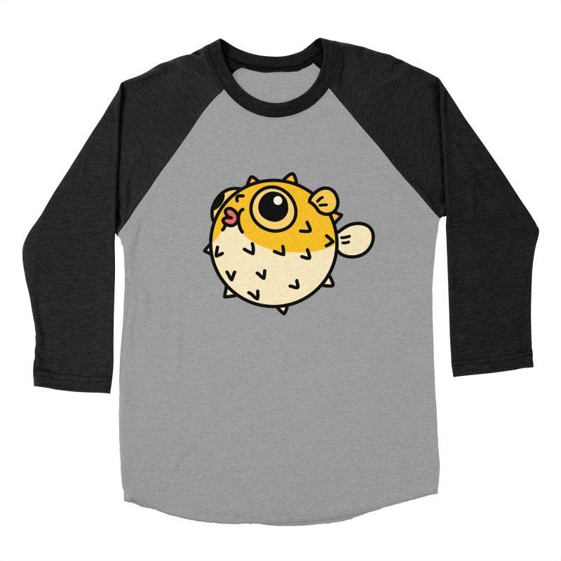 Pufferfish Women's Baseball Triblend T-Shirt by Casandra Ng